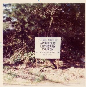 1973 Church Sign