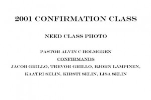2001 Confirmation Class